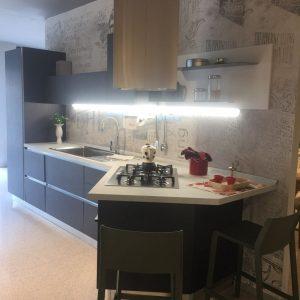Cucina Lube Immagina Lavagna completa di elettrodomestici Rex.